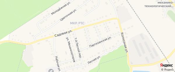 Садовый переулок на карте поселка Комаричей с номерами домов