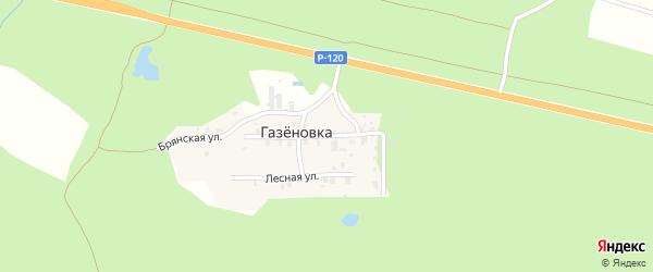 Брянская улица на карте поселка Газеновки с номерами домов