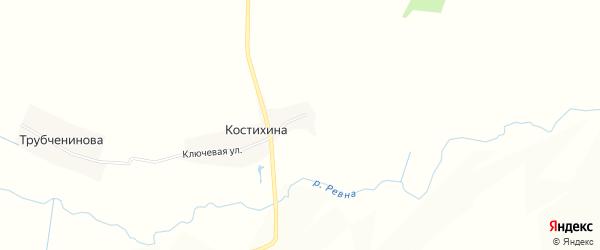 Карта деревни Костихиной в Брянской области с улицами и номерами домов