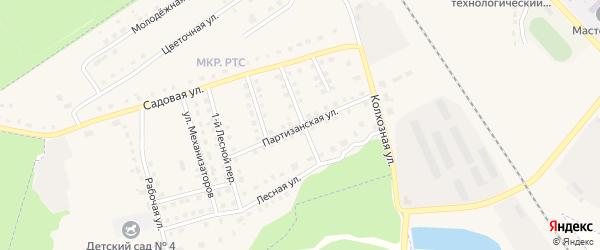 Партизанская улица на карте поселка Комаричей с номерами домов
