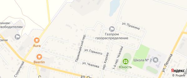 Улица Маяковского на карте поселка Комаричей с номерами домов