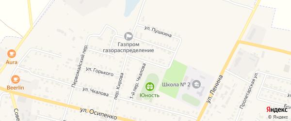 Улица Гоголя на карте поселка Комаричей с номерами домов