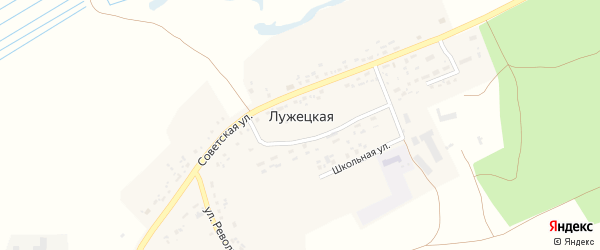 Территория ПСХК Покровский на карте Лужецкой деревни с номерами домов