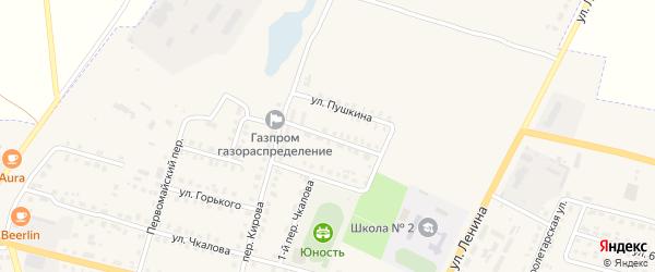 Улица Шевченко на карте поселка Комаричей с номерами домов