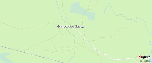 Карта деревни Философова Завода в Брянской области с улицами и номерами домов