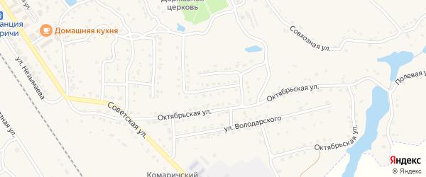2-й Октябрьский переулок на карте поселка Комаричей с номерами домов