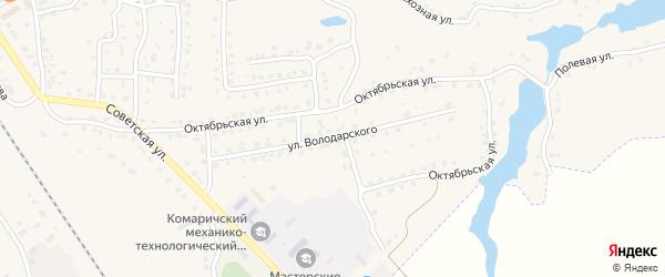 Улица Володарского на карте поселка Комаричей с номерами домов