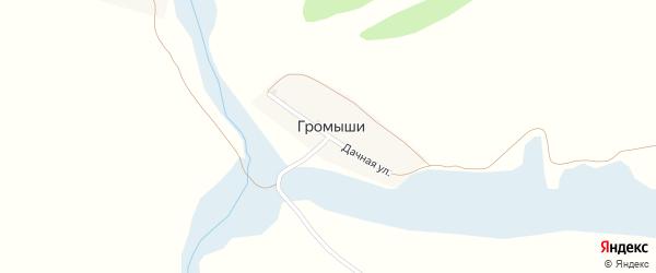 Дачная улица на карте поселка Громыши с номерами домов