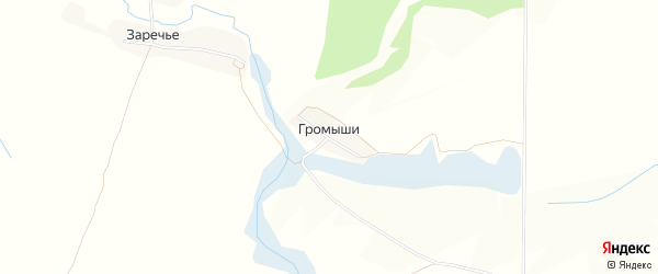 Карта поселка Громыши в Брянской области с улицами и номерами домов