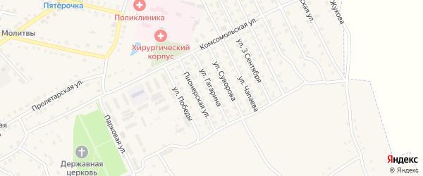 Улица Гагарина на карте поселка Комаричей с номерами домов