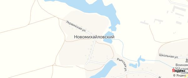 Озерная улица на карте Новомихайловского поселка с номерами домов