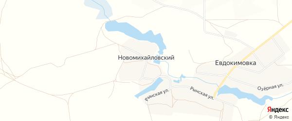 Карта Новомихайловского поселка в Брянской области с улицами и номерами домов