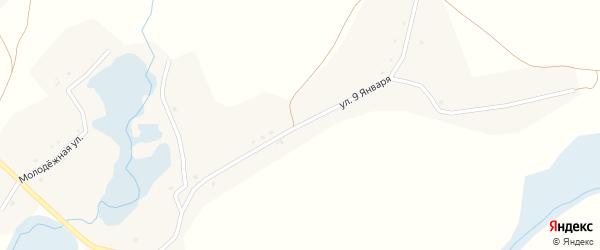 Улица 9 Января на карте села Литижа с номерами домов