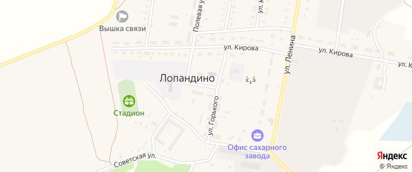 Улица Горького на карте поселка Лопандино с номерами домов