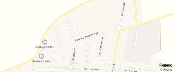 Кооперативная улица на карте поселка Лопандино с номерами домов