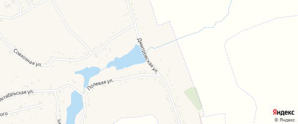 Дмитровская улица на карте поселка Комаричей с номерами домов