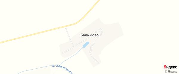 Карта деревни Балымово в Брянской области с улицами и номерами домов