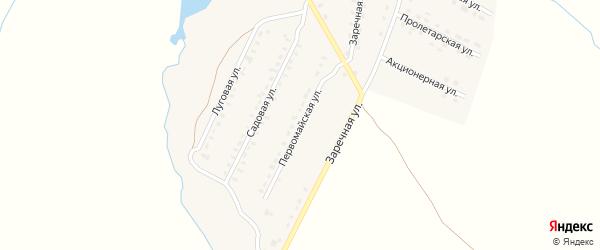 Первомайская улица на карте поселка Лопандино с номерами домов