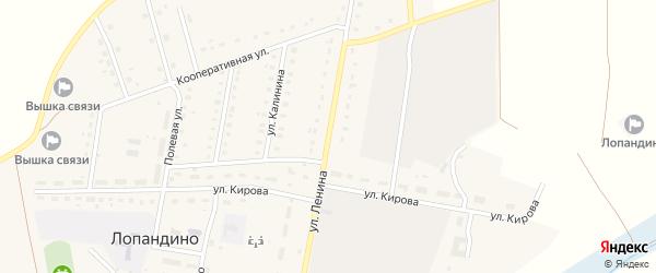 Улица Ленина на карте поселка Лопандино с номерами домов