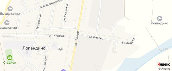Улица Кирова на карте поселка Лопандино с номерами домов
