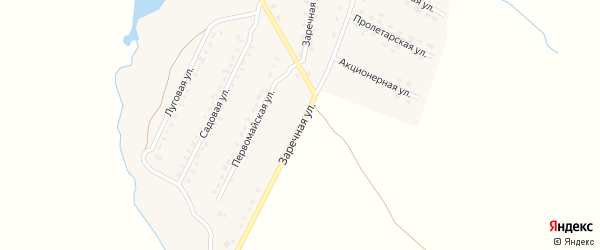 Заречная улица на карте поселка Лопандино с номерами домов