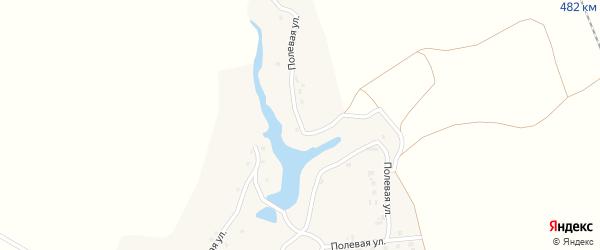 Полевая улица на карте деревни Дерюгина с номерами домов