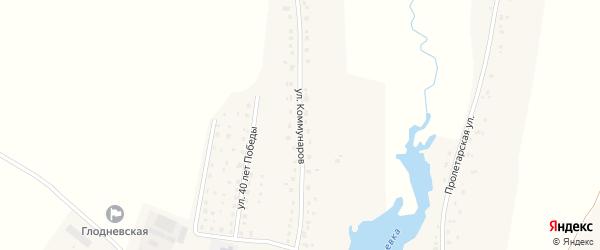 Улица Коммунаров на карте села Глоднево с номерами домов