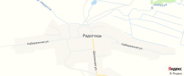 Карта села Радогощи в Брянской области с улицами и номерами домов