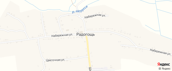 Набережная улица на карте села Радогощи с номерами домов