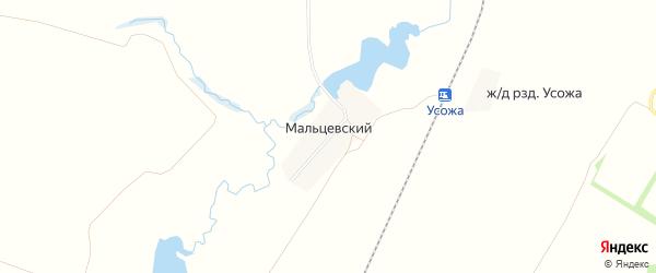 Карта Мальцевского поселка в Брянской области с улицами и номерами домов