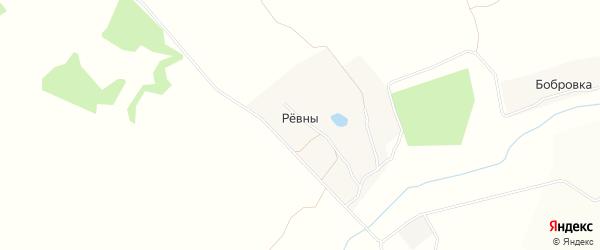 Карта деревни Ревны в Брянской области с улицами и номерами домов