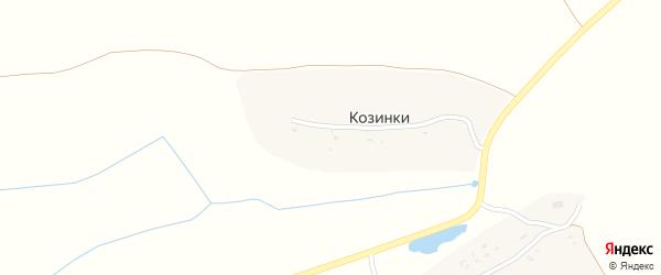 Партизанская улица на карте деревни Козинки с номерами домов