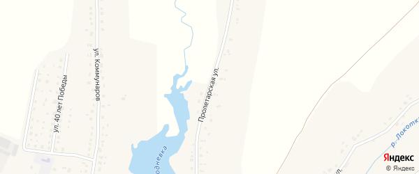 Пролетарская улица на карте села Глоднево с номерами домов