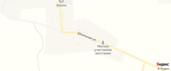 Школьная улица на карте села Радогощи с номерами домов