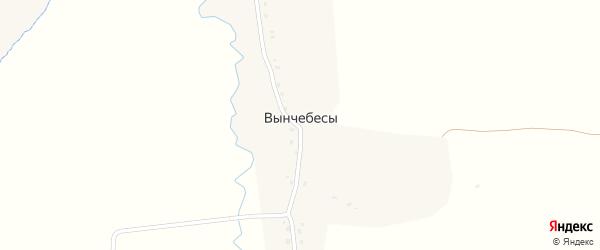 Заречная улица на карте деревни Вынчебес с номерами домов