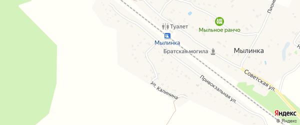 Улица Калинина на карте деревни Мылинки с номерами домов