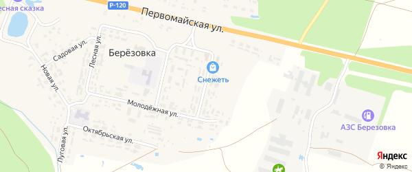 Комсомольская улица на карте поселка Березовки с номерами домов