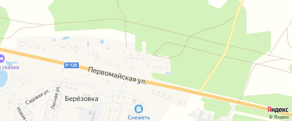 Первомайская улица на карте поселка Березовки с номерами домов