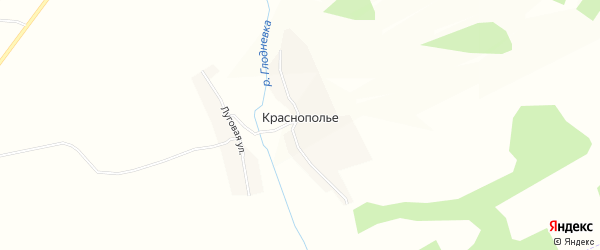 Карта деревни Краснополья в Брянской области с улицами и номерами домов
