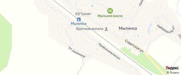 Привокзальная улица на карте деревни Мылинки с номерами домов