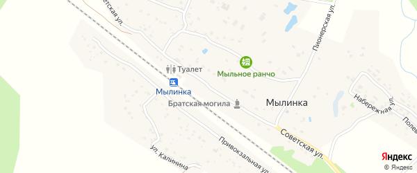Советская улица на карте деревни Мылинки с номерами домов
