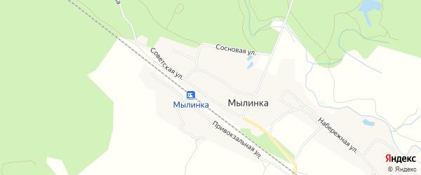 СТ Надежда на карте деревни Мылинки с номерами домов