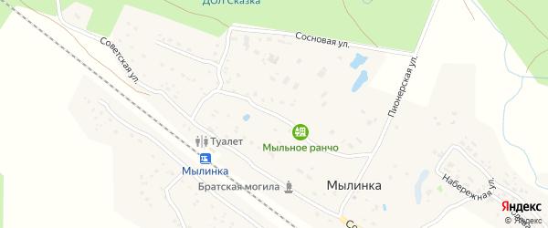 Пионерская улица на карте деревни Мылинки с номерами домов