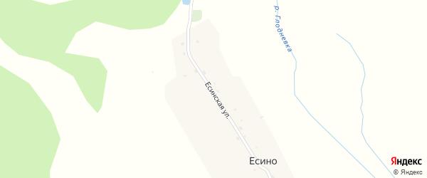 Есинская улица на карте поселка Есино с номерами домов