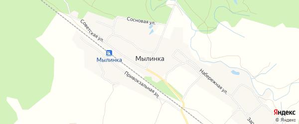 СТ Рассвет на карте деревни Мылинки с номерами домов