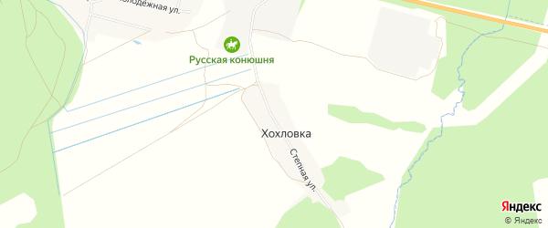 Карта деревни Хохловки в Брянской области с улицами и номерами домов