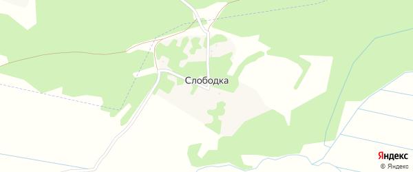 Лесная улица на карте деревни Слободки с номерами домов