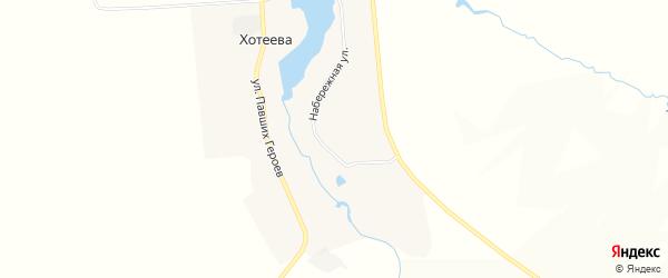 Карта села Хотеева в Брянской области с улицами и номерами домов