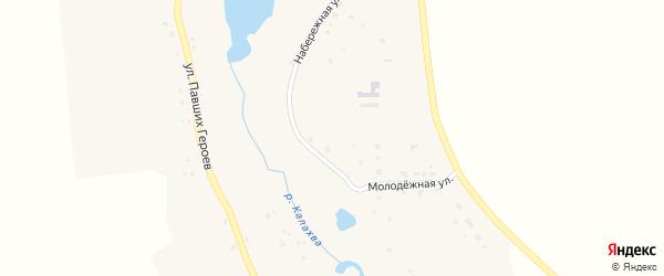 Луговая улица на карте села Хотеева с номерами домов