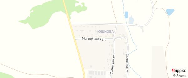 Молодежная улица на карте деревни Куприной с номерами домов